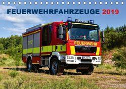 Feuerwehrfahrzeuge (Tischkalender 2019 DIN A5 quer) von Photoart & Medien / Marcus Heinz,  MH