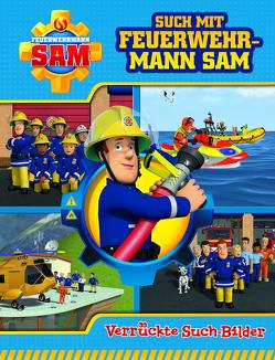Feuerwehrmann Sam – Such mit Feuerwehrmann Sam – Verrückte Suchbilder – Wimmelbuch mit lustigen Lernspielen und Aufgaben – Pappbilderbuch mit 18 Seiten für Kinder ab 18 Monaten