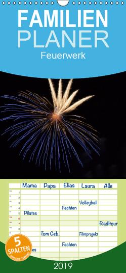 Feuerwerk – Familienplaner hoch (Wandkalender 2019 , 21 cm x 45 cm, hoch) von E. Klein,  Tim