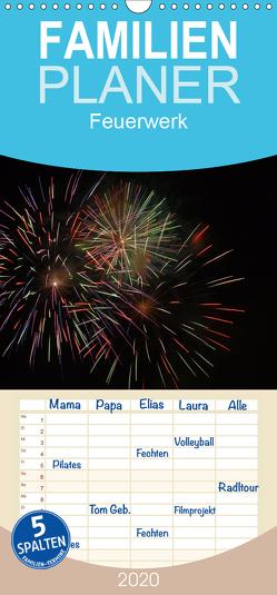 Feuerwerk – Familienplaner hoch (Wandkalender 2020 , 21 cm x 45 cm, hoch) von Brömstrup,  Peter
