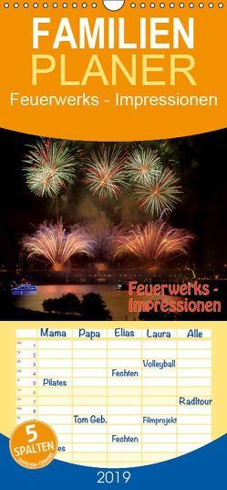 Feuerwerks – Impressionen – Familienplaner hoch (Wandkalender 2019 , 21 cm x 45 cm, hoch) von Dietrich,  Jochen