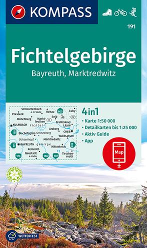 KOMPASS Wanderkarte Fichtelgebirge, Bayreuth, Marktredwitz von KOMPASS-Karten GmbH