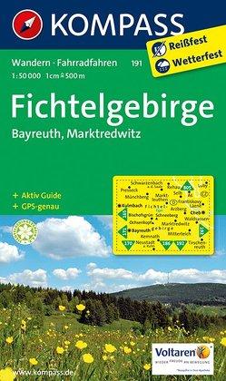 KOMPASS Wanderkarte Fichtelgebirge – Bayreuth – Marktredwitz von KOMPASS-Karten GmbH