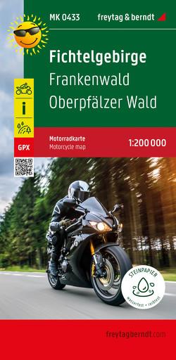 Fichtelgebirge – Frankenwald – Oberpfälzer Wald, Motorradkarte 1:200.000, freytag & berndt