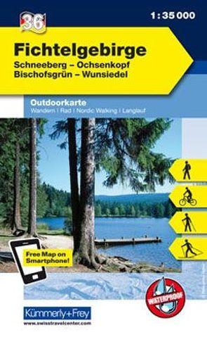 Fichtelgebirge Nr. 36 Outdoorkarte Deutschland 1:35 000