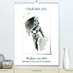FIGURINEN 2021 – Fashion von 1949 – Originale von Elina Ruffinengo (Premium, hochwertiger DIN A2 Wandkalender 2021, Kunstdruck in Hochglanz) von Ruffinengo / Elina Ruffinengo,  Rolando
