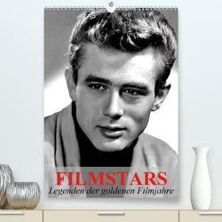 Filmstars – Legenden der goldenen Filmjahre (Premium, hochwertiger DIN A2 Wandkalender 2021, Kunstdruck in Hochglanz) von Stanzer,  Elisabeth