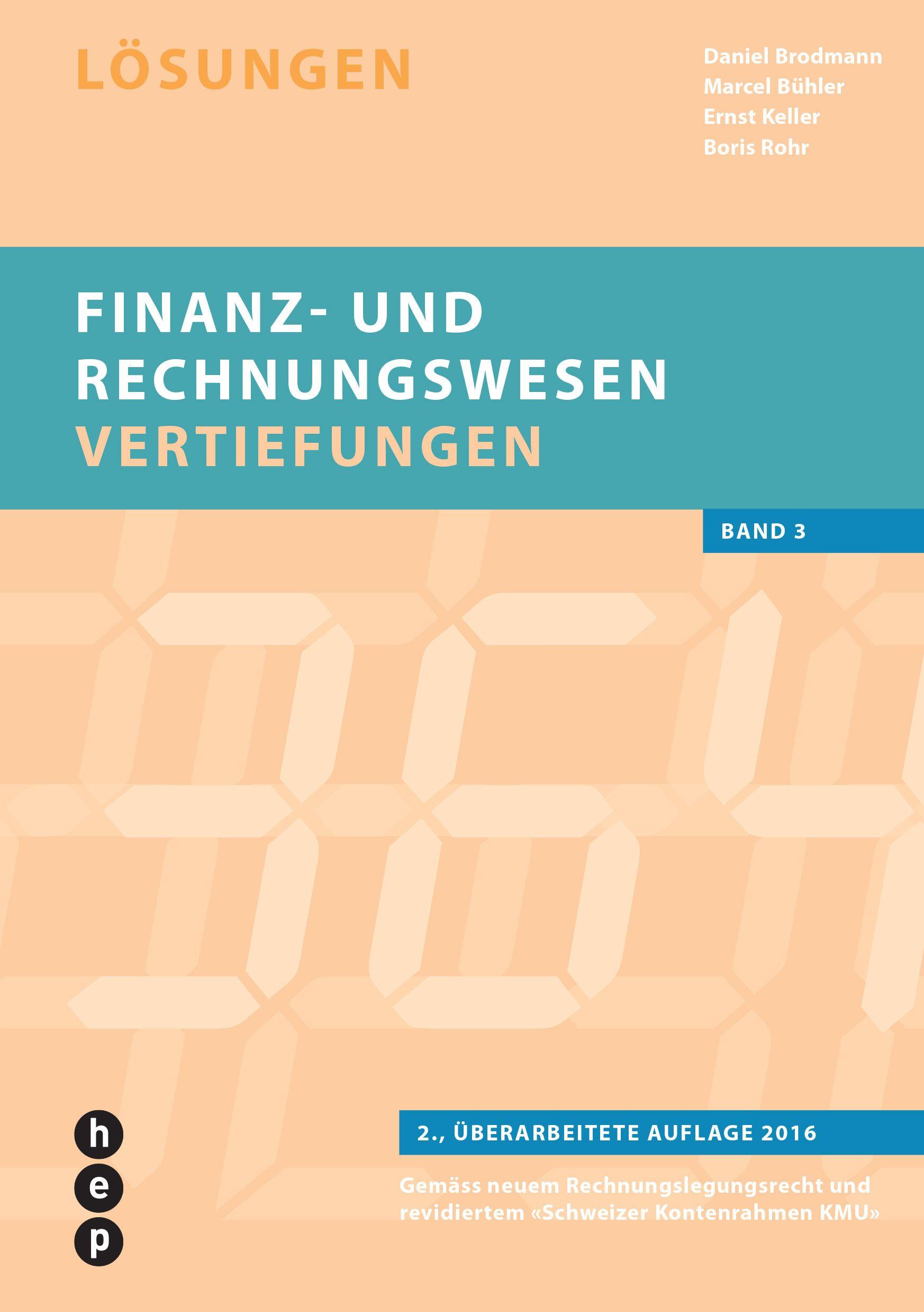 Finanz Und Rechnungswesen Vertiefungen Von Brodmann Daniel Keller