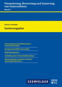 Finanzierung, Bewertung und Sanierung von Unternehmen / Sanierungsplan von Seefelder,  Günter