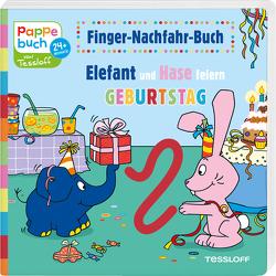 Finger-Nachfahr-Buch. Elefant und Hase feiern Geburtstag von Baier,  Katja