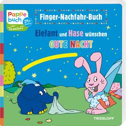 Finger-Nachfahr-Buch. Elefant und Hase wünschen Gute Nacht von Baier,  Katja