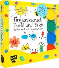 Fingerabdruck, Punkt und Strich: Zeichenspaß auf Fingerabdrücken – Das Fingerfarben-Set