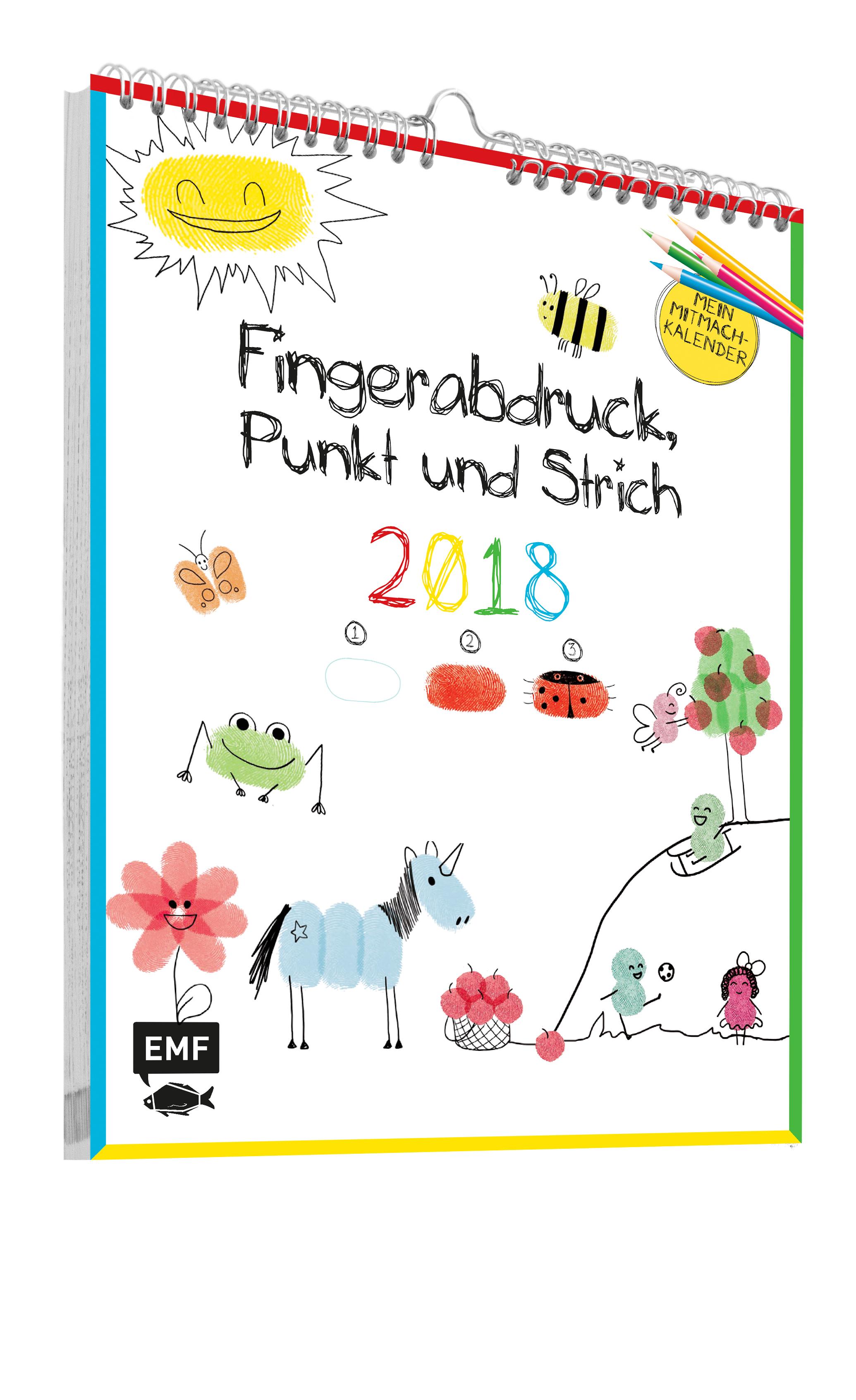 Faszinierend Bild Fingerabdruck Galerie Von Fingerabdruck, Punkt Und Strich: Mein Mitmachkalender 2018