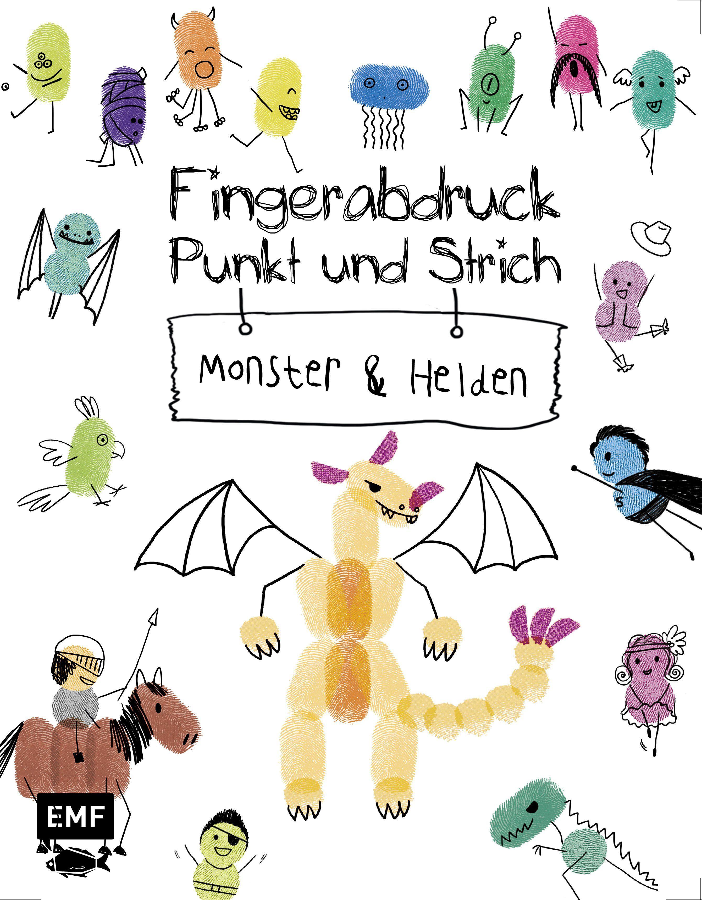 Fingerabdruck Punkt Und Strich Monster Und Helden Von Edition Mic