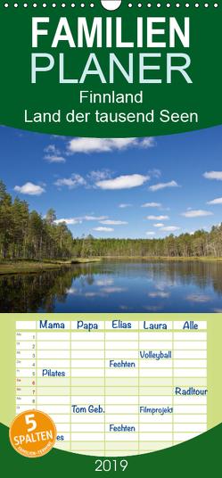 Finnland – Land der tausend Seen – Familienplaner hoch (Wandkalender 2019 , 21 cm x 45 cm, hoch) von Ergler,  Anja