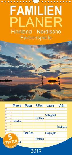 Finnland – Nordische Farbenspiele – Familienplaner hoch (Wandkalender 2019 , 21 cm x 45 cm, hoch) von Bininda,  Andreas