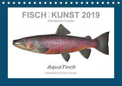 Fisch als Kunst 2019: Atlantische Forellen (Tischkalender 2019 DIN A5 quer) von Vecsei,  Paul