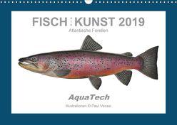 Fisch als Kunst 2019: Atlantische Forellen (Wandkalender 2019 DIN A3 quer) von Vecsei,  Paul
