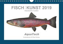 Fisch als Kunst 2019: Atlantische Forellen (Wandkalender 2019 DIN A4 quer) von Vecsei,  Paul