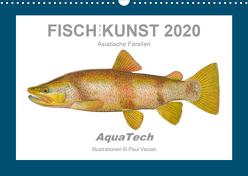 Fisch als Kunst 2020: Asiatische Forellen (Wandkalender 2020 DIN A3 quer) von Vecsei,  Paul