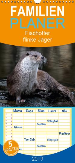 Fischotter, flinke Jäger – Familienplaner hoch (Wandkalender 2019 , 21 cm x 45 cm, hoch) von R Bogner,  J