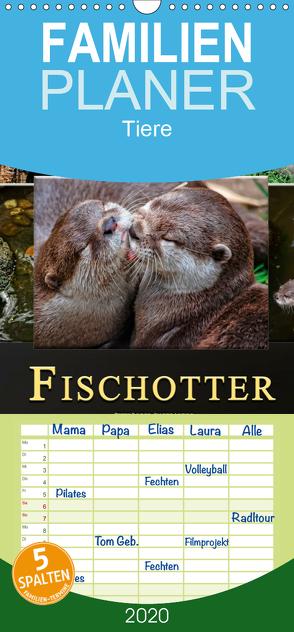 Fischotter – putzige Kerlchen und elegante Schwimmer – Familienplaner hoch (Wandkalender 2020 , 21 cm x 45 cm, hoch) von Roder,  Peter