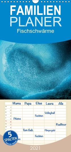 Fischschwärme – Familienplaner hoch (Wandkalender 2021 , 21 cm x 45 cm, hoch) von Jager,  Henry
