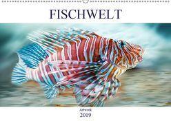 Fischwelt – Artwork (Wandkalender 2019 DIN A2 quer) von Brunner-Klaus,  Liselotte