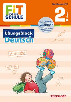 FiT FÜR DIE SCHULE: Übungsblock Deutsch 2. Klasse von Frey,  Marcus, Harvey,  Franziska, Wandrey,  Guido, Zenker,  Werner