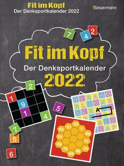 Fit im Kopf – der Denksport-Kalender 2022. Jeden Tag Gehirnjogging mit dem beliebten Abreißkalender von Krüger,  Eberhard