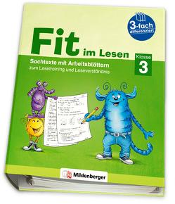 Fit im Lesen – Sachtexte, Klasse 3 von Schumacher,  Eva, Schumacher,  Katrin, Stehr,  Sabine