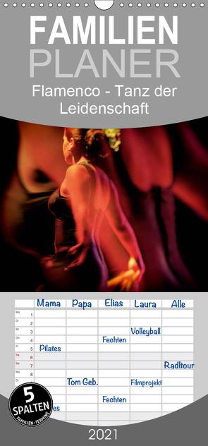 Flamenco – Tanz der Leidenschaft – Familienplaner hoch (Wandkalender 2021 , 21 cm x 45 cm, hoch) von Dürr / Gabi Hampe,  Brigitte