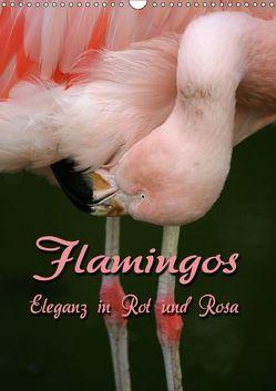 Flamingos – Eleganz in Rot und Rosa (Wandkalender 2019 DIN A3 hoch) von Berg,  Martina