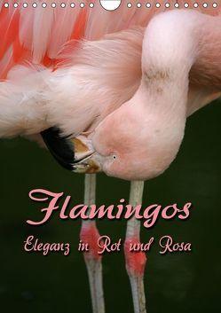 Flamingos – Eleganz in Rot und Rosa (Wandkalender 2019 DIN A4 hoch) von Berg,  Martina