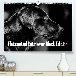 Flatcoated Retriever Black Edition (Premium, hochwertiger DIN A2 Wandkalender 2021, Kunstdruck in Hochglanz) von Müller,  Beatrice