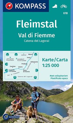 Fleimstal, Val di Fiemme, Catena dei Lagorai von KOMPASS-Karten GmbH