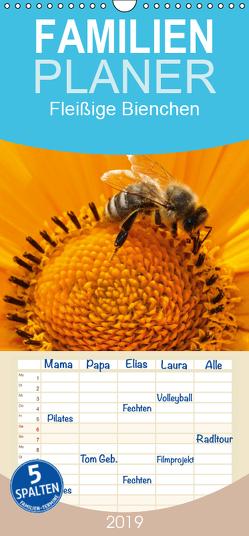 Fleißige Bienchen – Familienplaner hoch (Wandkalender 2019 , 21 cm x 45 cm, hoch) von Wolf,  Jan