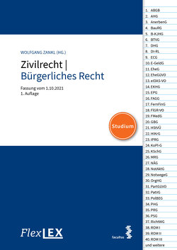 FlexLex Zivilrecht/Bürgerliches Recht │Studium von Zankl,  Wolfgang
