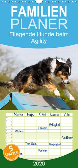 Fliegende Hunde beim Agility – Familienplaner hoch (Wandkalender 2020 , 21 cm x 45 cm, hoch) von Scholze,  Verena