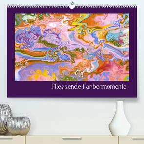 Fliessende Farbenmomente (Premium, hochwertiger DIN A2 Wandkalender 2020, Kunstdruck in Hochglanz) von Hospes,  Danijela