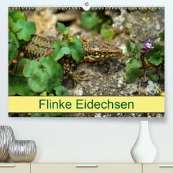 Flinke Eidechsen (Premium, hochwertiger DIN A2 Wandkalender 2020, Kunstdruck in Hochglanz) von kattobello