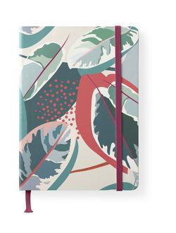 Floral 16×22 cm – GreenLine Journal – 176 Seiten, Punktraster und blanko – Hardcover – gebunden