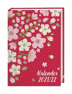Floral 17-Monats-Kalenderbuch A5 Kalender 2022 von Heye