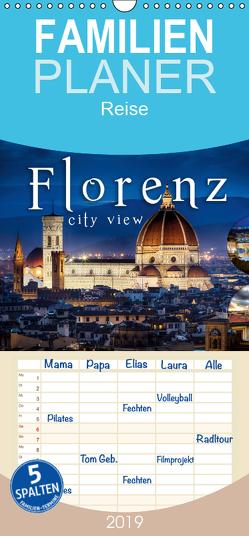 Florenz city view – Familienplaner hoch (Wandkalender 2019 , 21 cm x 45 cm, hoch) von Schöb,  Monika