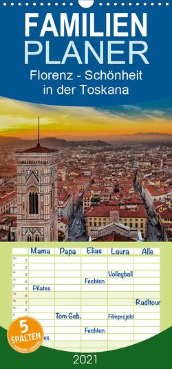 Florenz – Schönheit in der Toskana – Familienplaner hoch (Wandkalender 2021 , 21 cm x 45 cm, hoch) von Roder,  Peter