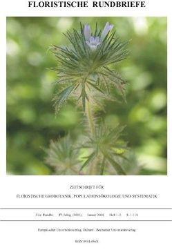 Floristische Rundbriefe von Haeupler,  Henning