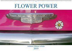 FLOWER POWER – Geblümte Oldtimer (Wandkalender 2019 DIN A2 quer) von von Loewis of Menar,  Henning