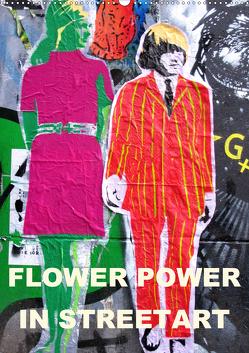 Flower Power in StreetArt (Wandkalender 2020 DIN A2 hoch) von zwayne/steckandose