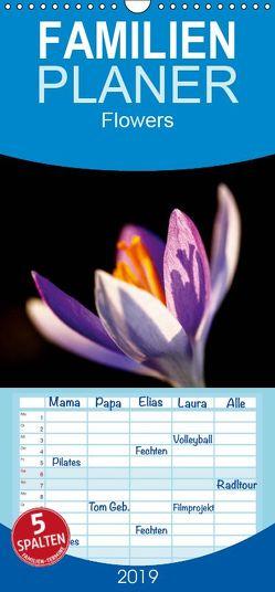 Flowers – Familienplaner hoch (Wandkalender 2019 , 21 cm x 45 cm, hoch) von Jaeger,  Thomas