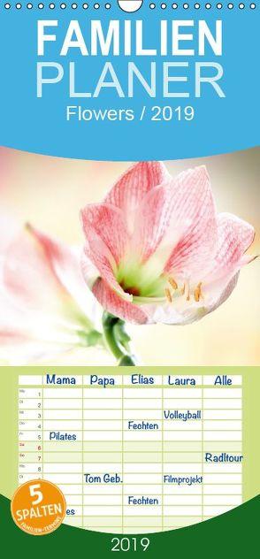 Flowers – Familienplaner hoch (Wandkalender 2019 , 21 cm x 45 cm, hoch) von und Max Waldecker,  Axel